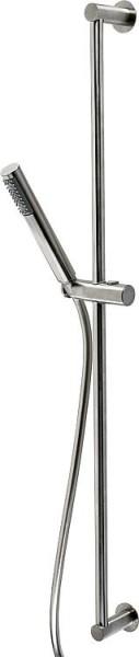 Brause-Set EGMAR-INOX mit Stabhandbrause + Brauseschlauch Brausestange 900mm, Edelstahl poliert