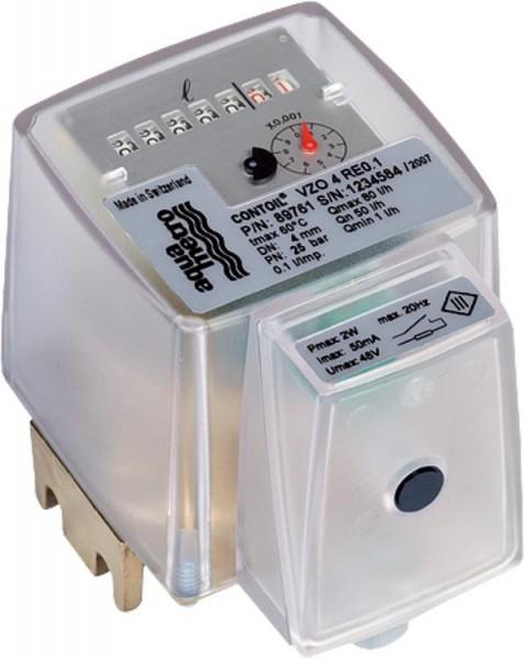 Aqua - Metro - Ölzähler Ringkolbenzähler VZO 8 RE 1 m. Innengewindeanschluß mit Impulsgeber